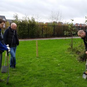 Grosvenor Park tree planting